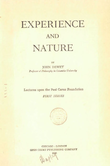 Exp and Nature 1925:26 Title page